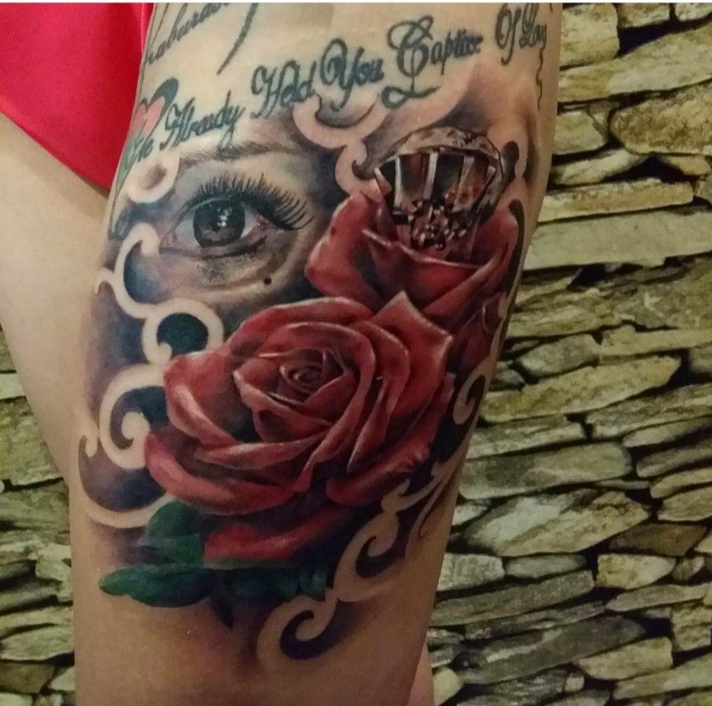 Bali flower tattoo